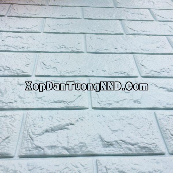 Xốp dán tường giả gạch trắng ngà mã GG03