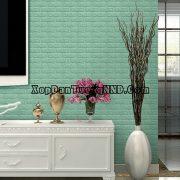 ảnh phối cảnh mẫu xốp dán tường giả gạch xanh mã GG04