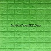 Ảnh chụp chính diện mẫu xốp dán tường giả gạch xanh nõn chuối mã GG05