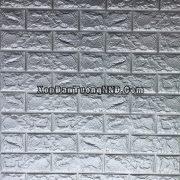 Ảnh chi tiết mẫu xốp dán tường giả gạch màu ghi xám mã GG06