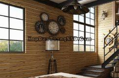 Xốp dán tường giả gỗ được ứng dụng rất rộng rãi giúp mang thiên niên vào ngôi nhà của bạn