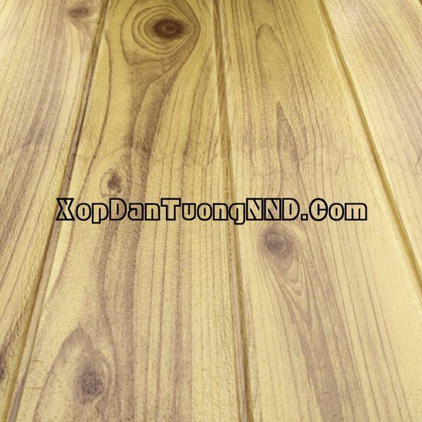 Mẫu xốp dán tường vân gỗ màu nâu đất mã VG02
