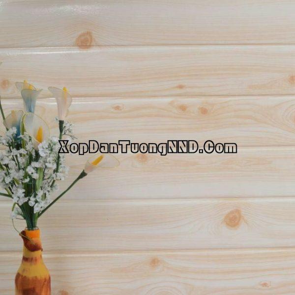 Ảnh phối cảnh mẫu xốp dán tường giả gỗ mã VG04