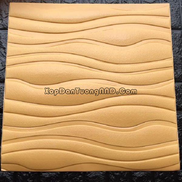 Xốp dán tường 3D vân sóng màu vàng mã VS04