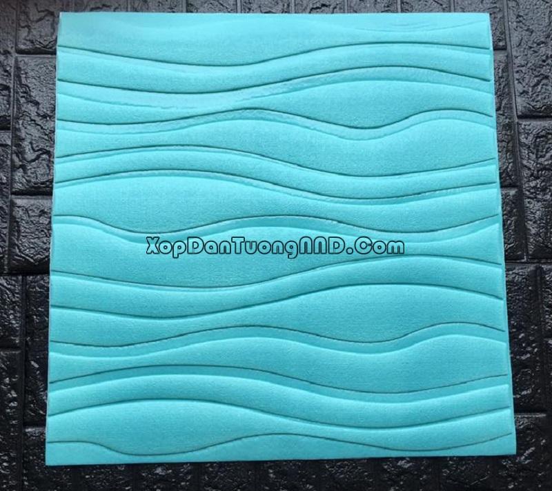 Xốp dán tường 3D vân sóng màu xanh da trời mã Vs06