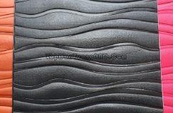 Xốp dán tường 3D vân sóng màu đen mã Vs07
