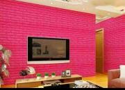 Mẫu xốp dán tường chống ẩm màu hồng