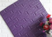 Mẫu xốp dán tường màu tím giả đá