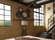 Xốp dán tường giả gỗ là vật liệu trang trí được ưa chuộng hiện nay