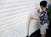 Dễ dàng thi công và lắp đặt xốp 3d dán tường