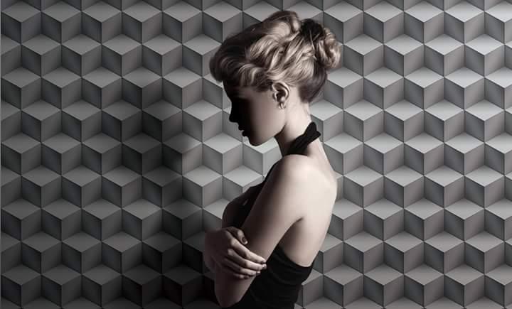 Giấy dán tường 3D hình khối đẹp mê mị