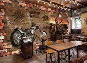 Giấy dán tường quán ăn cực ngầu
