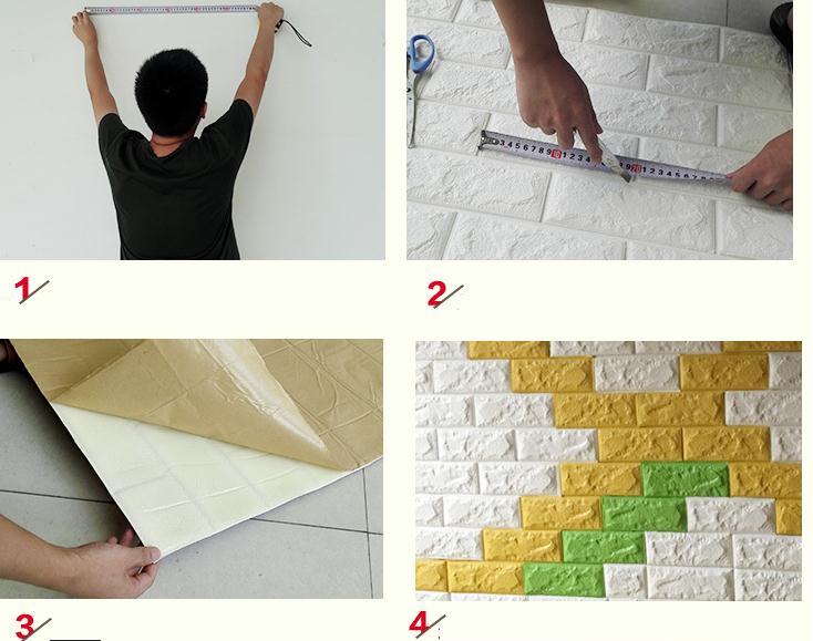 Hướng dẫn cách dán xốp dán tường