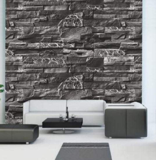 Mẫu xốp dán tường 3D giả đá kiểu Hàn Quốc