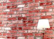 Mẫu xốp dán tường màu đỏ cổ điển