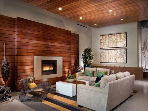 Mẫu xốp dán tường vân gỗ sang trọng hiện đại
