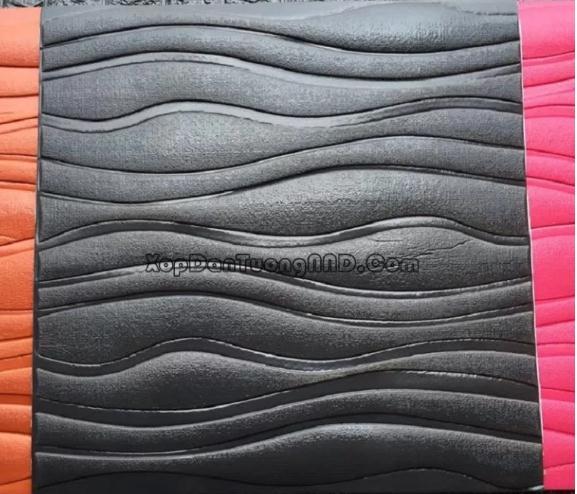 Mẫu xốp ốp 3D dán tường hình vân sóng