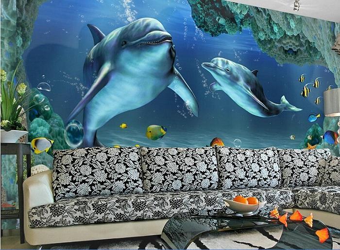 Xốp dán tường 3D trong lòng đại dương