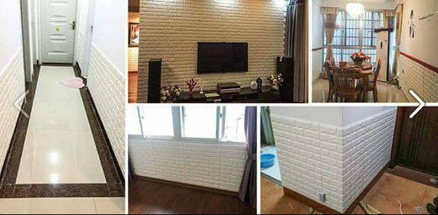 Xốp dán tường giả gạch phù hợp với mọi không gian