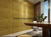 Xốp dán tường vân gỗ màu tối được nhiều người ưa chuộng
