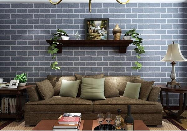 Giấy dán tường hình ô gạch mang đến nét cổ điển cho không gian