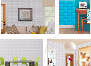 Trang trí xốp dán tường giả gạch tại các căn phòng