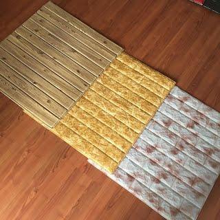 Xốp dán tường giả gỗ ở Vinh